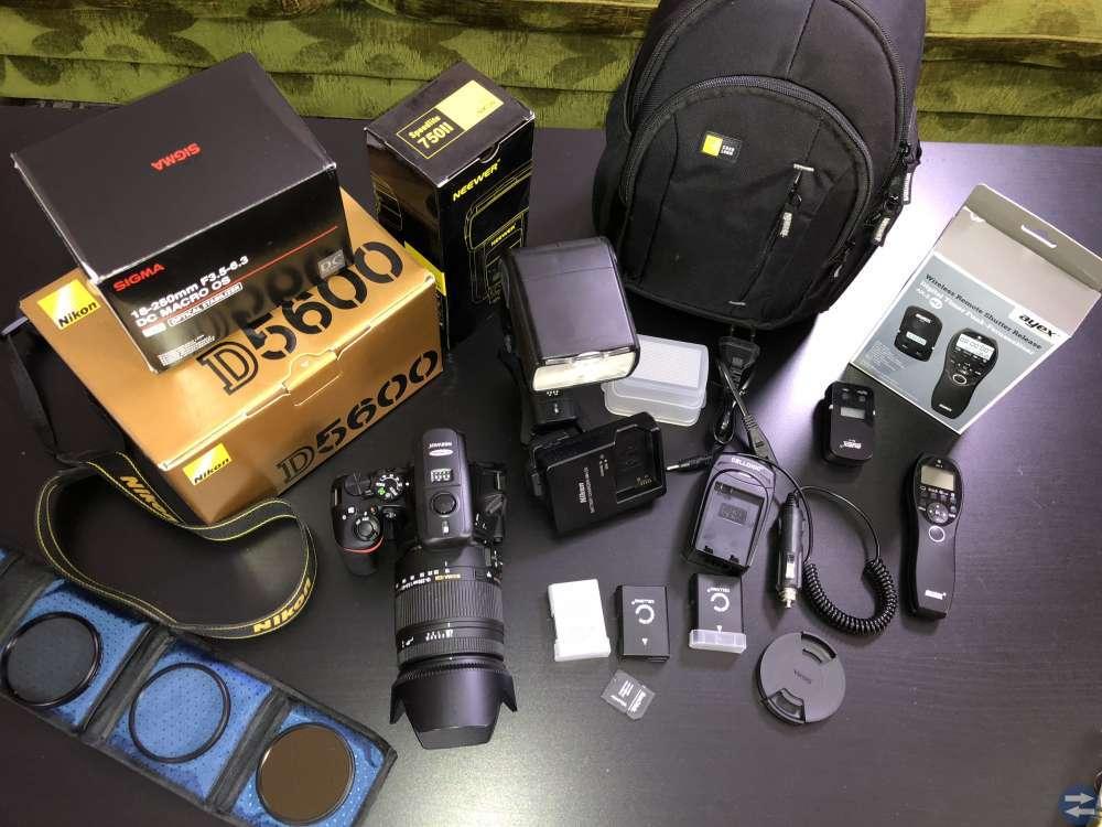 Nikon D5600 med tillbehör