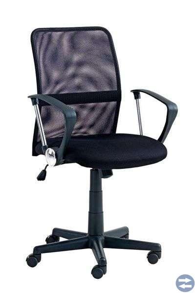 Kontorsstol svart , databord (Hörnskrivbord )