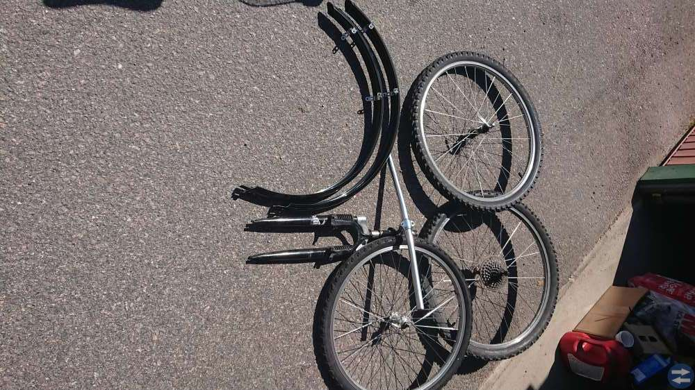 Cykehjul komplett +cykeldelar