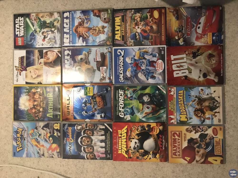 Dvd filmer och spel