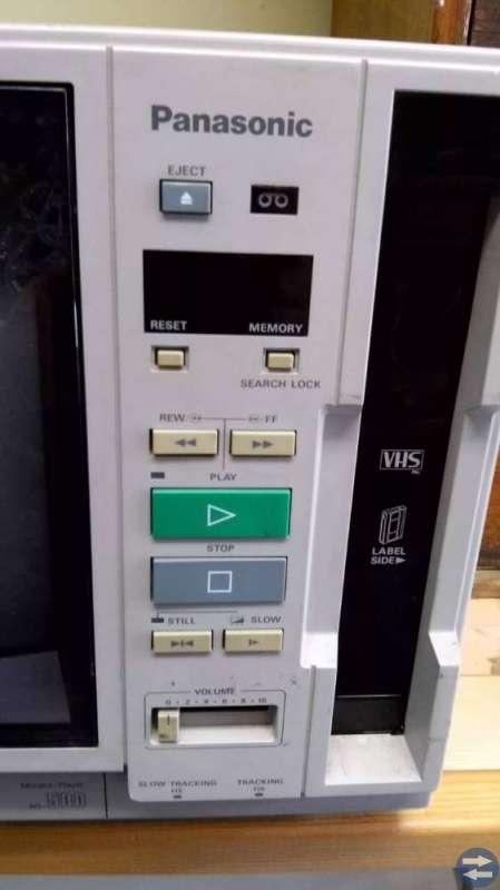 BÄRBAR portabel VHS-spelare