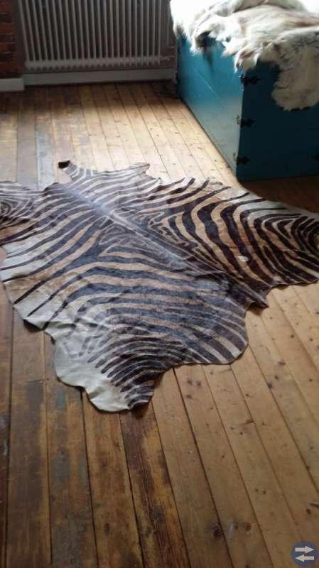 Zebra skinn och 2st Rhen skinn (nya)