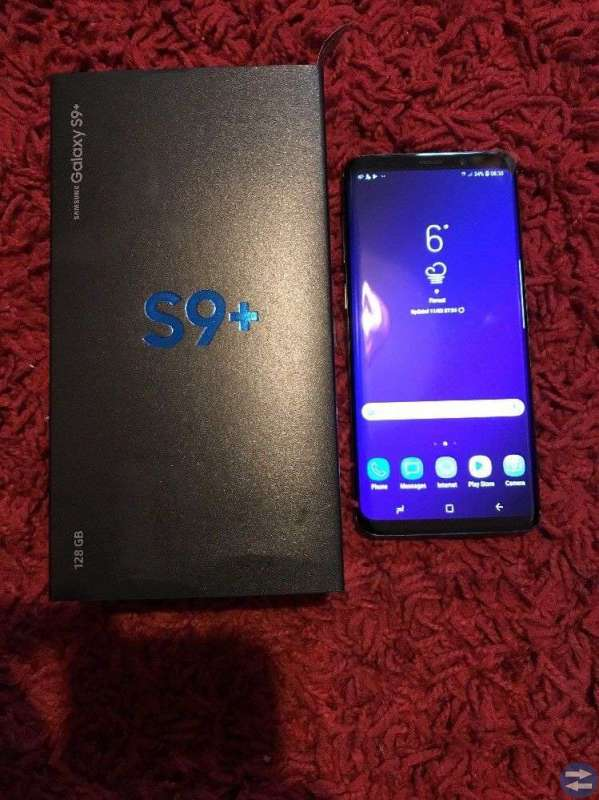 Samsung Galaxy S9 plus olåst Midnight Black