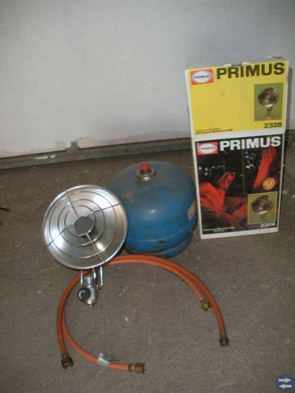 Ny Primus värmelampa +gasolbehållare