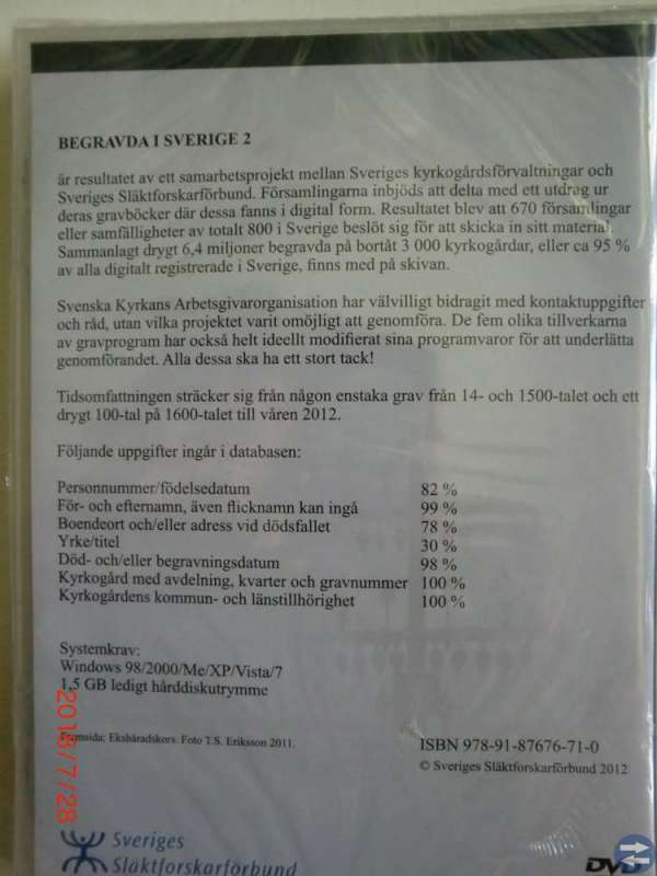 Dvd  Begravda i Sverige