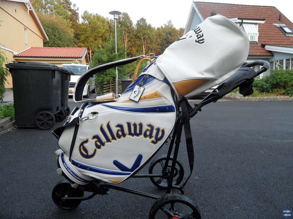 Supersnygg golfbag med vagn