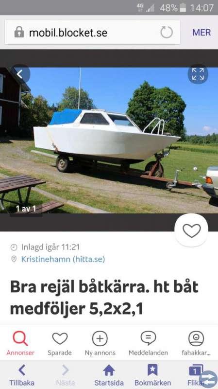 HT 5.20 träbåt med kärra