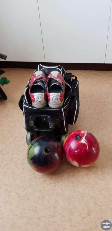 Bowlingklot +väska