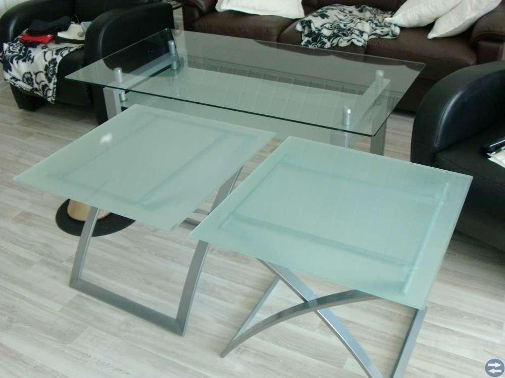 Soffbord och sidobord i glas