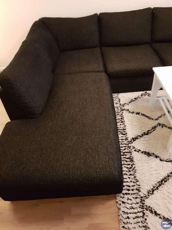 Stor Soffa 3-sits + divan, Memphis fotpall