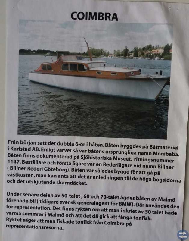 Modellbåt av m/y coimbra