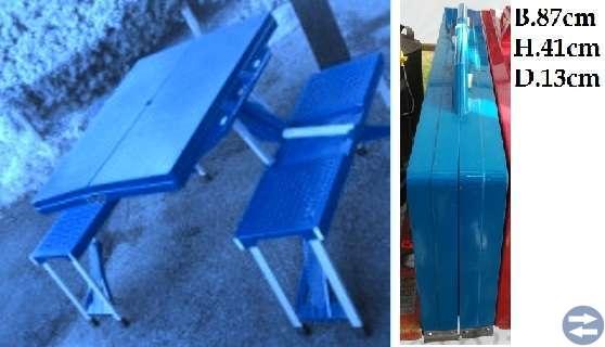 Campingbord blå