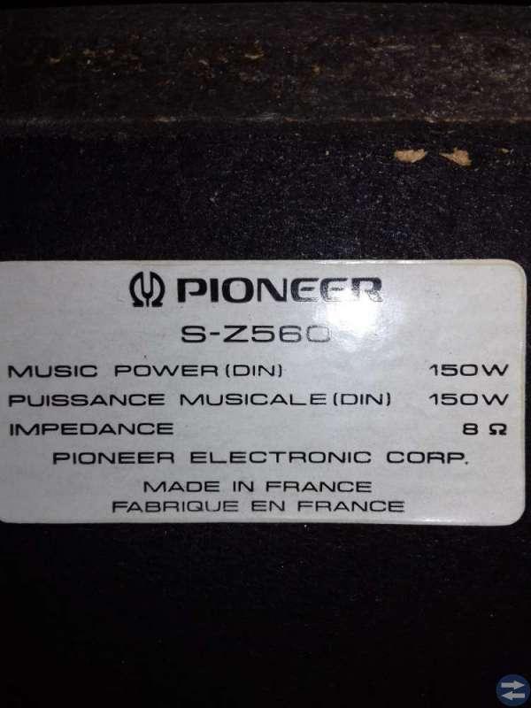 Golvhögtalare Pioneer S-Z560