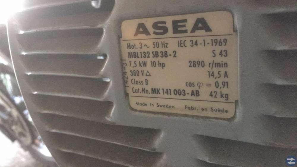 El motorer 1.5Kw och 7.5KW