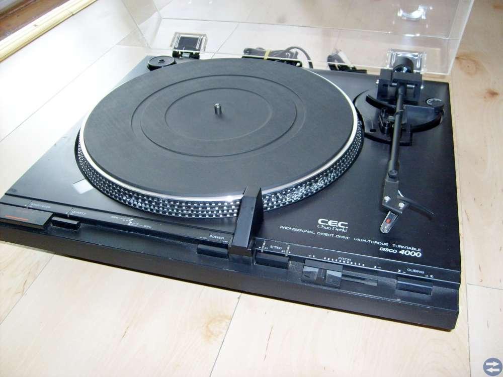 Skivspelare C.E.C. Chuo Denki 4000 + Ortofon OM10
