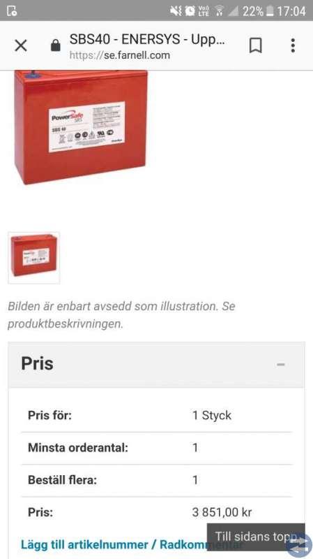 Powersafe SBS40 batterier