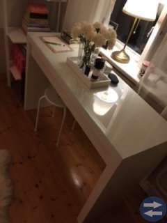 Ikea bord (MALM Toalettbord)