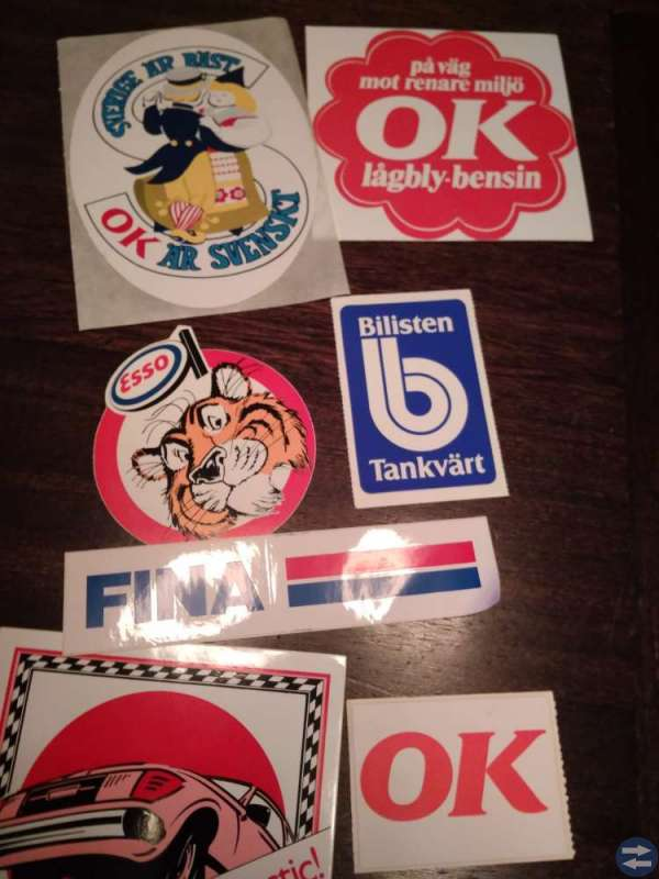 Samling klistermarken & dekaler 70-tal