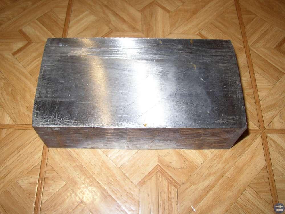 Aluminiumlegerad Titan 203x105 mm Tjocklek 60 mm