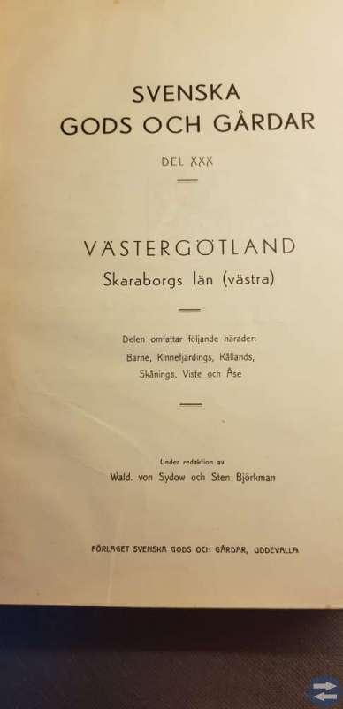 Bok Svenska Gods och Gårdar 1942