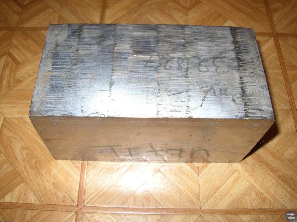 Aluminiumlegerad Titan 203x105 mm Tjocklek 102 mm