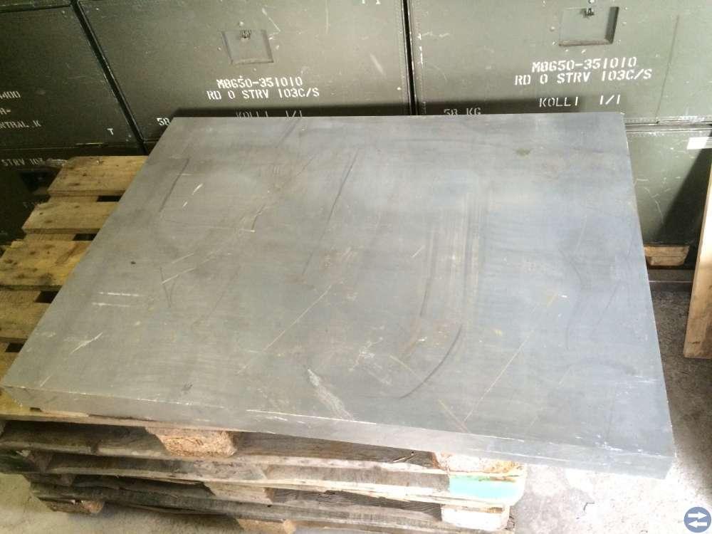 Aluminiumämne (1av3) fräsämne 1118x823 mm tj. 75mm