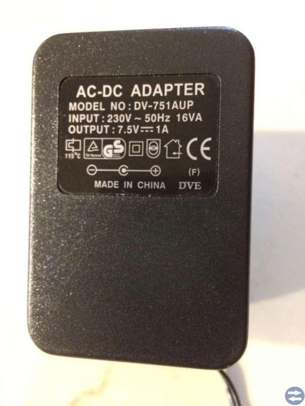 Batterieliminator 7,5 Volt  1 Ampär 8 stycken