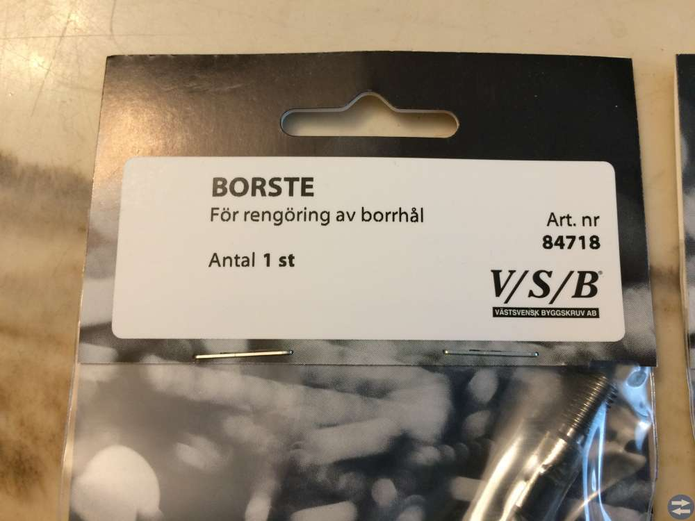 Borste för rengöring av borrhål 2 stycken VSB 8471