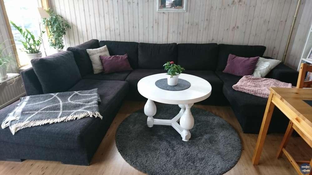 Svart Divan Soffa