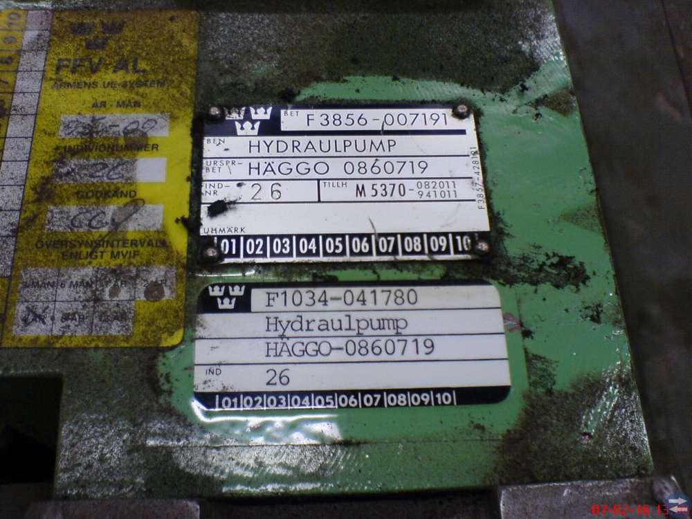 Hydraulpump Häggo till bgbv 82 och brobv 941