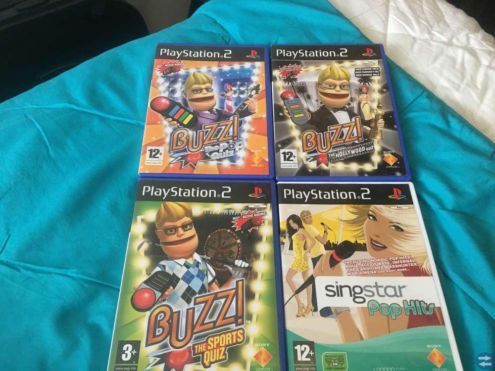 Playstation PS 2  med 9 st spel