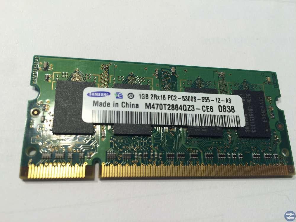 Minnen Samsung till bärbar DDR2 2st 1Gb 2Rx16 PC2-