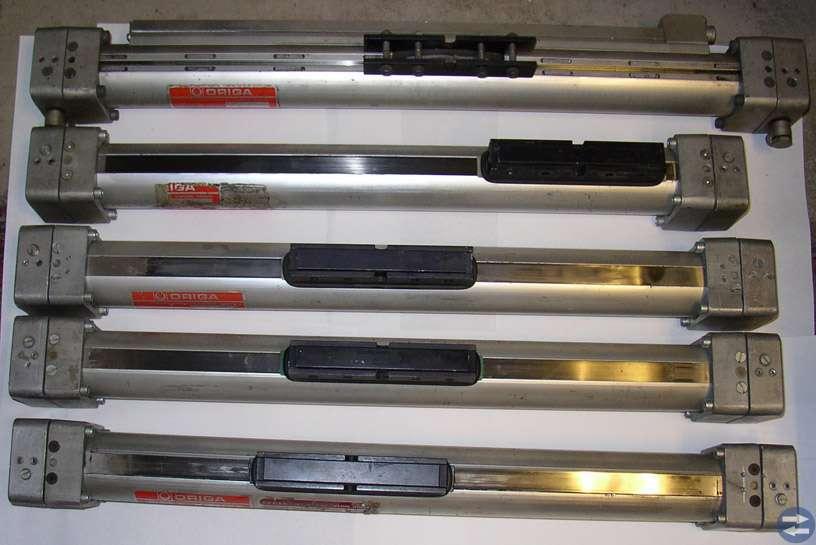 Origa kolvstångslösa tryckluftscylindrar 5 stycken