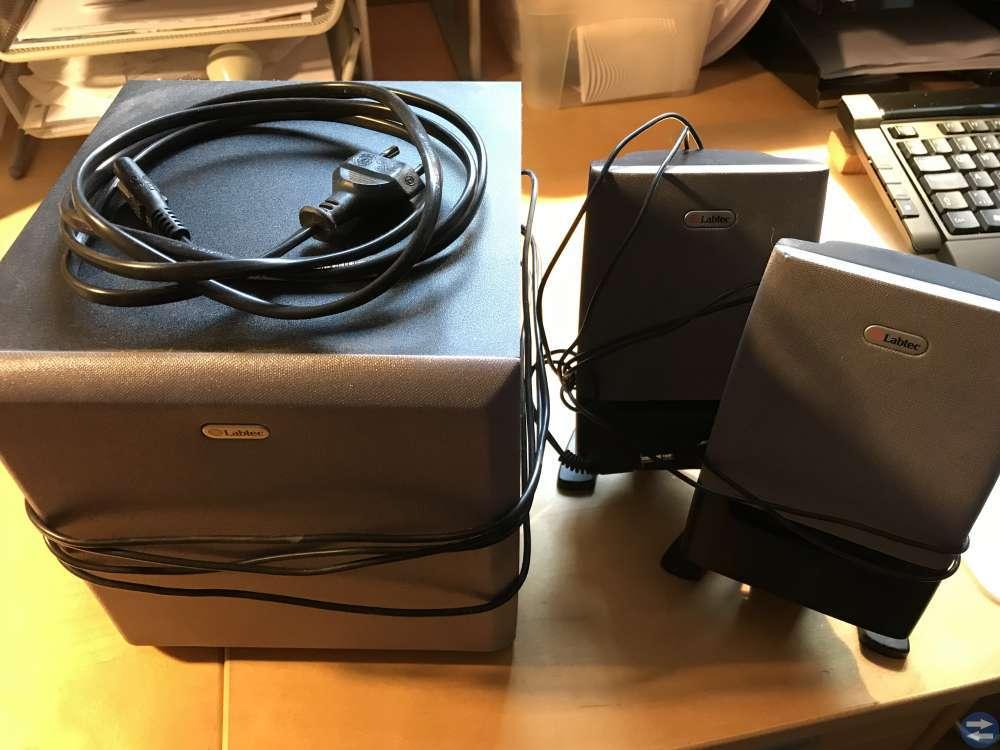 Högtalare, HP skrivare, HDMI kabel