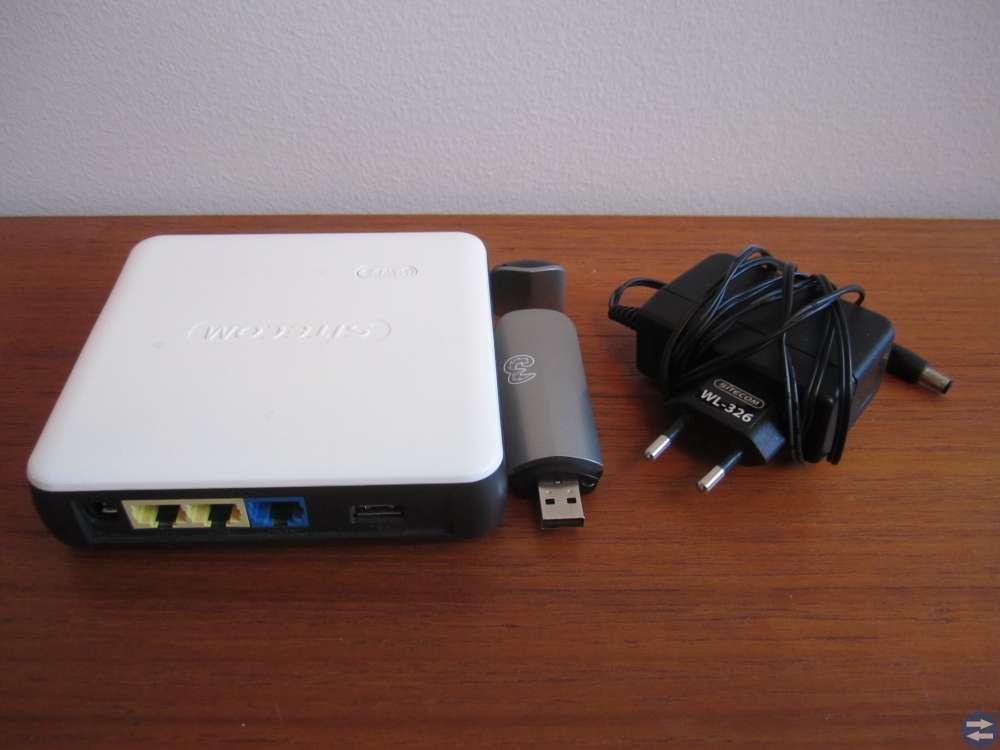 Router, för trådlös WiFi eller kabelnät