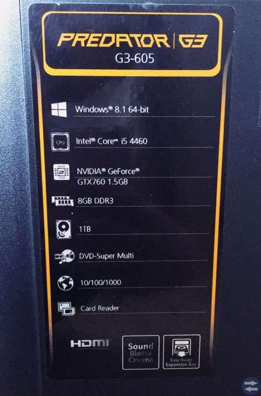Acer gaming dator