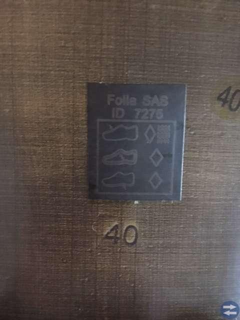 Damkänga i läder stl 40