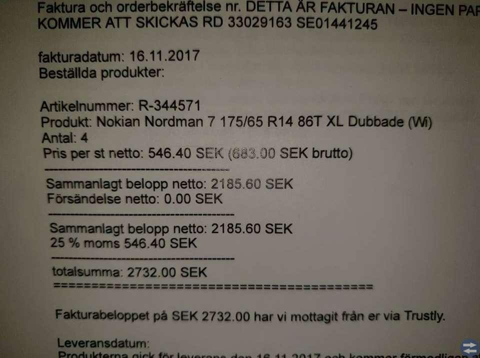 Dubbdäck: Nokian Nordman 7 175/65 R14 86T XL