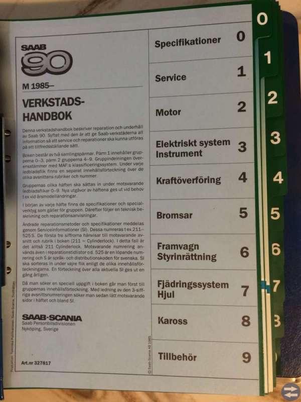 Saab 90 85- verkstadshandbok