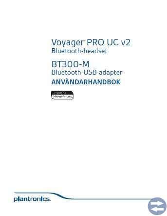 Headset Plantronics Voyager® PRO UC v2 BT300-M