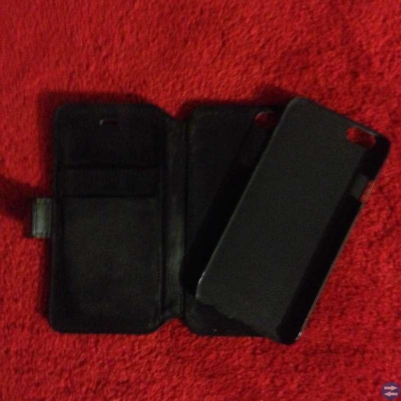 Mobilplånbok i exklusivt läder, 2kortfack/idkort