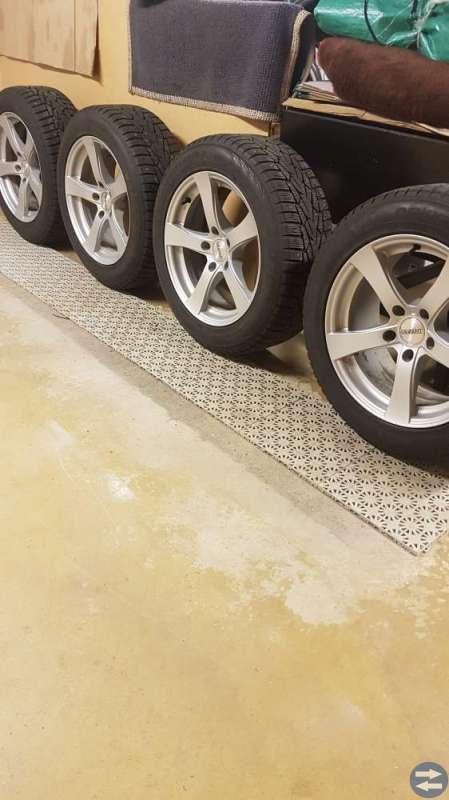 4 st Välv Dubb däck, har suttit på BMW 520 -14