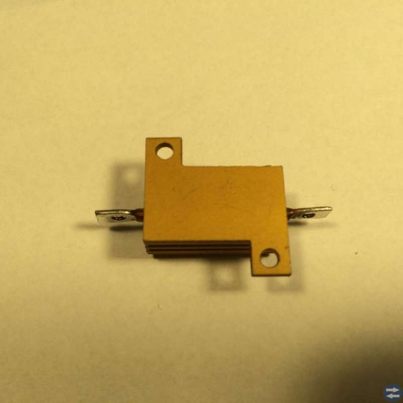 Trådlindat motstånd, aluminiumkapslat 220 ohm 15W