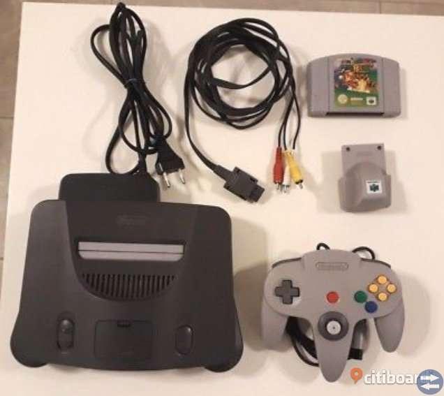 Nintendo 64 spelkonsol + Super Mario 64