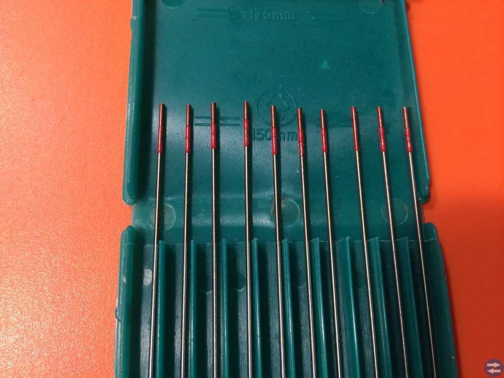Wolframelektroder WT20 10 stycken 1,0x150 mm