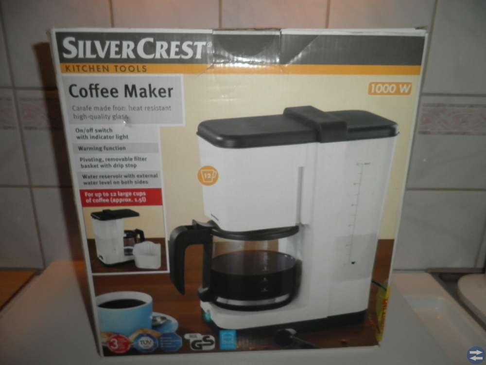 Kaffebryggare - vit - ej använd endast testkörd