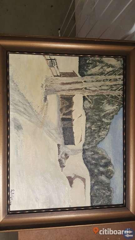 Äldre Tavla målad av Sven Lilja!