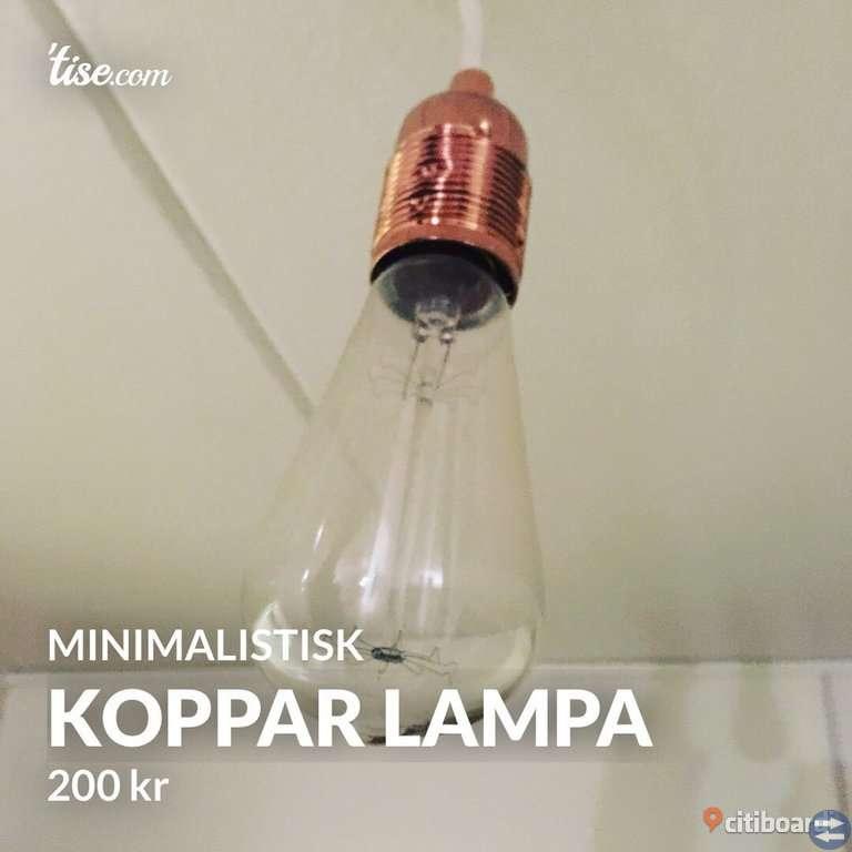 MINIMALISTISK KOPPAR LAMPA