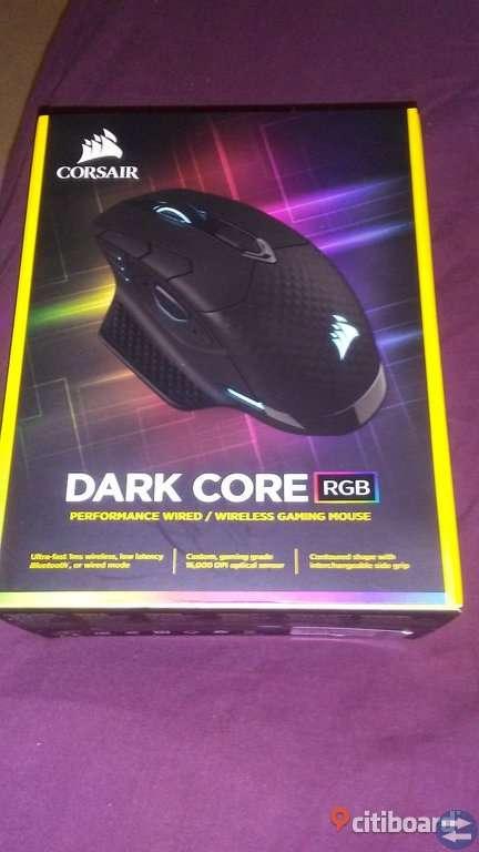 Corsair Gaming Dark Core RGB Wireless Mouse,splitterny i kartong-pris på netonet 949:-