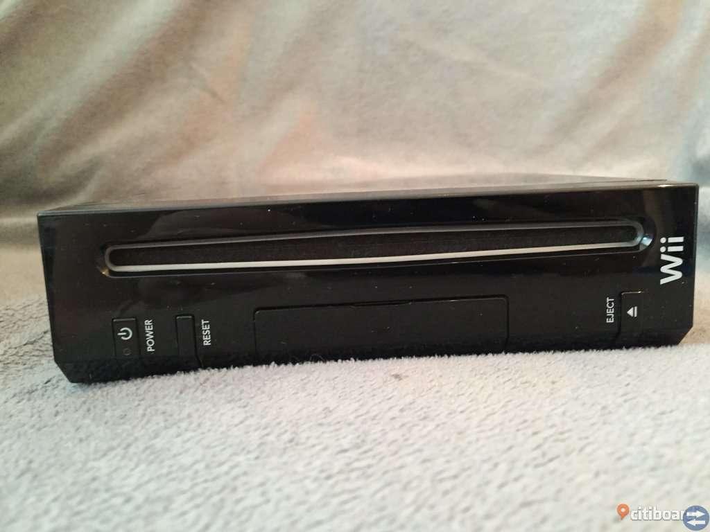 Wii Svart Basenhet Med Tillbehör